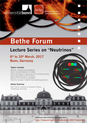 Poster Lecture Series Neutrinos
